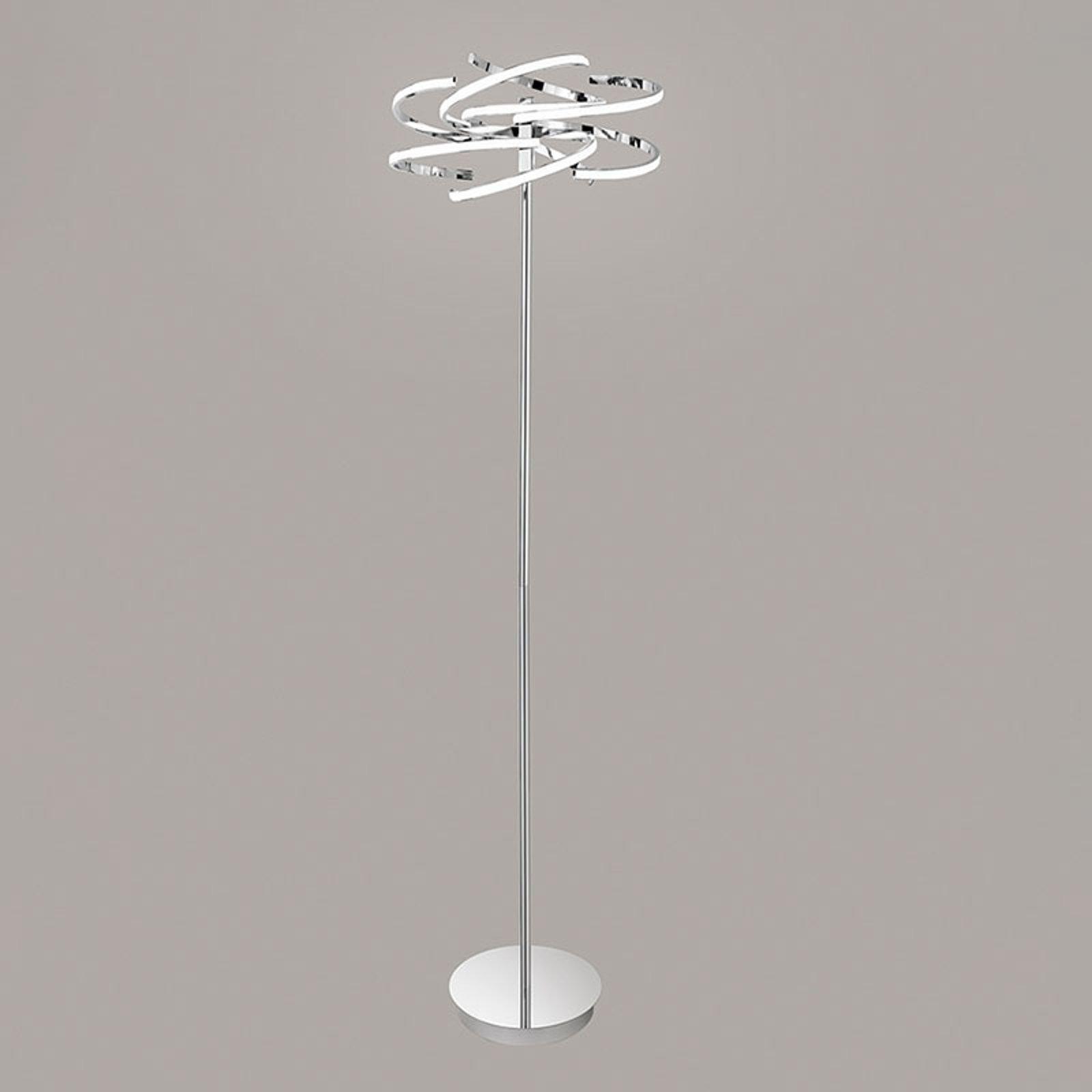 LED-gulvlampe 6399 krom