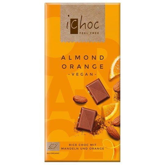 iChoc Chokladkaka Mandel & Apelsin, 80 g