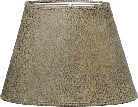 Lampeskjerm Oval Skinn Beige