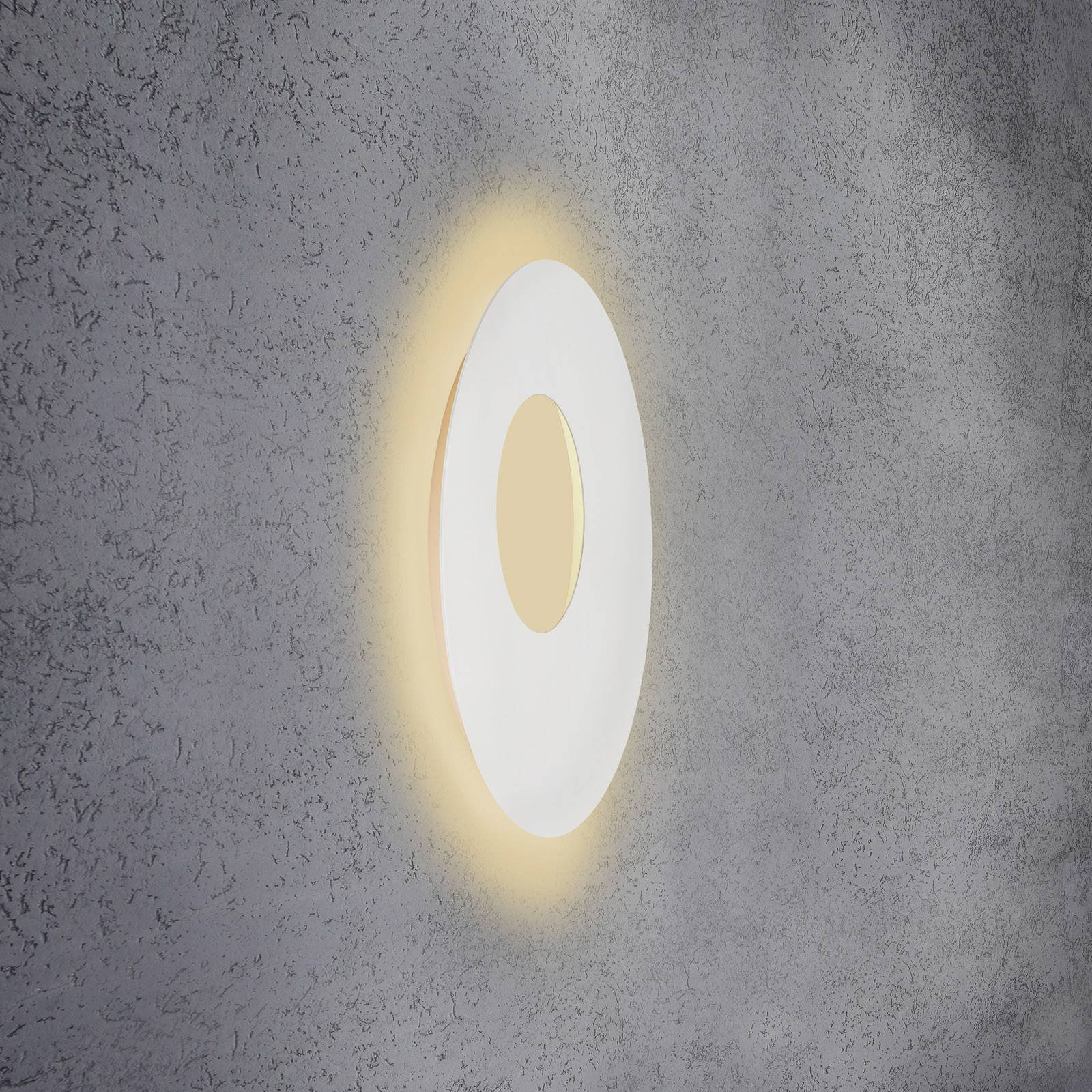 Escale Blade Open LED-vegglampe, hvit, Ø 59 cm