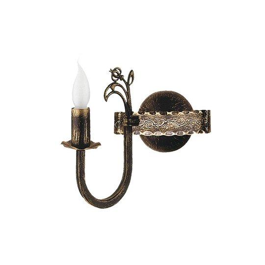 Vegglampe Castle mørk håndpatinert, 1 lyskilder