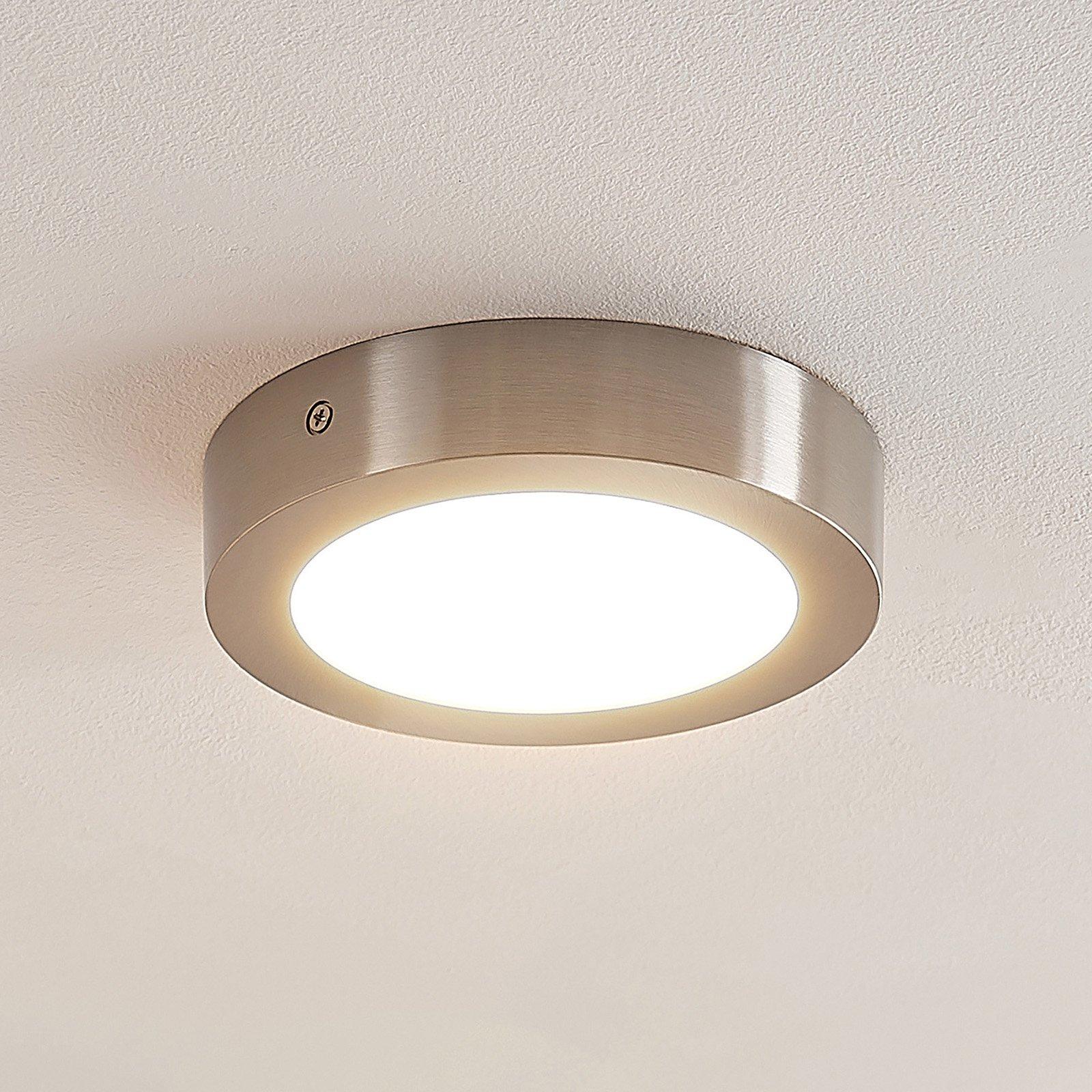 ELC Merina LED-taklampe downlight, nikkel 17 cm