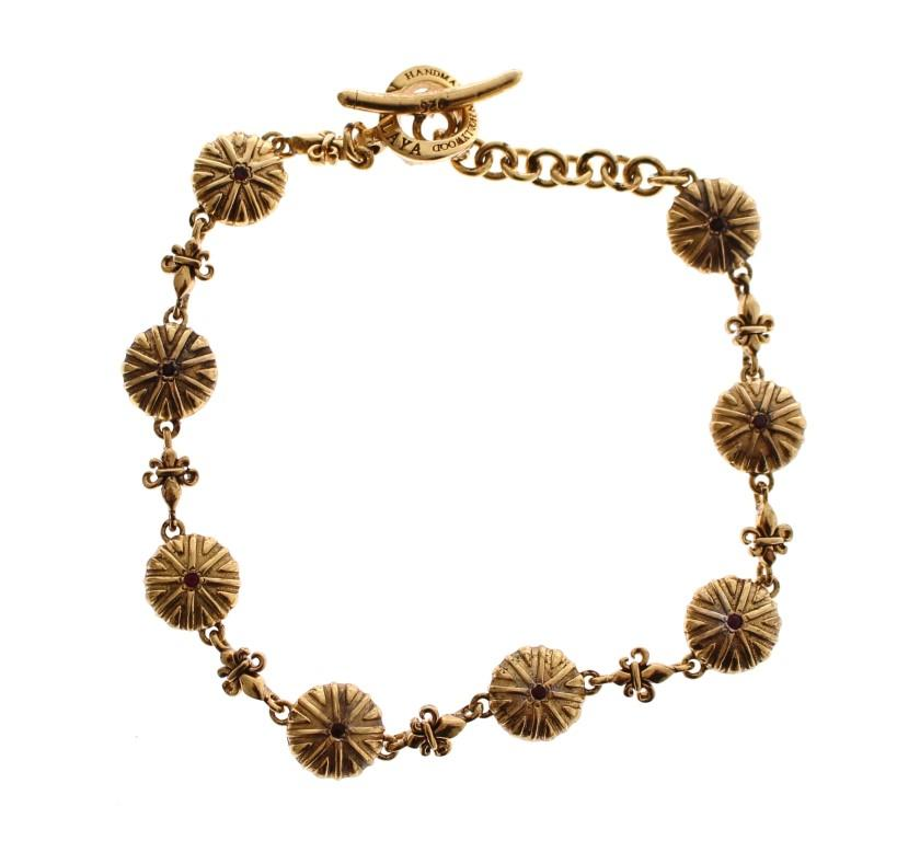 Nialaya Women's CZ 18K Gold 925 Silver Bracelet Gold NIA10094 - S