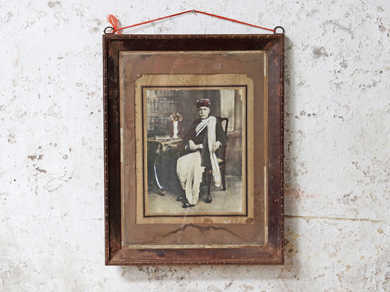 Pair Of Vintage Framed Photos Brown