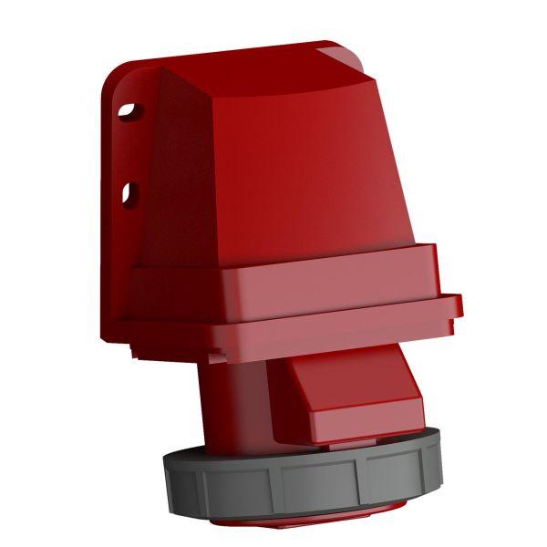 ABB 2CMA102378R1000 Seinäpistorasia pikaliitettävä, tärinänkestävä Punainen, 32 A, 4-napainen, IP67