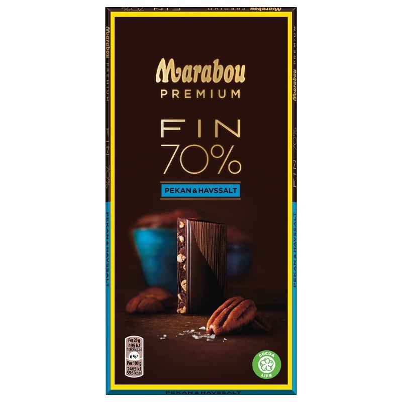 Mörk Choklad Pekannötter & Havssalt - 40% rabatt
