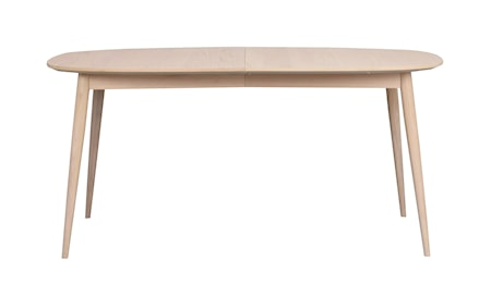 Dawsone Matbord Ovalt vitpigmenterad ek 160x105 cm