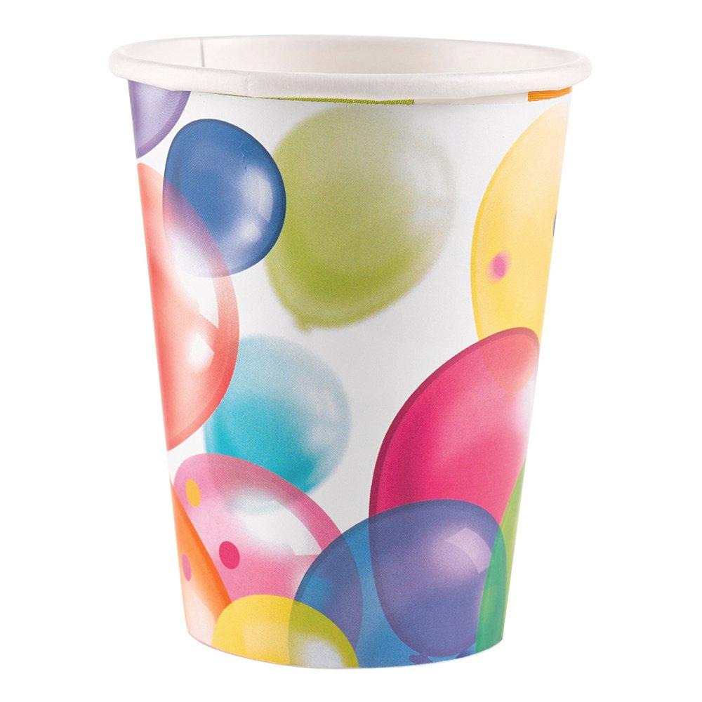 Pappersmuggar med Ballonger - 8-pack