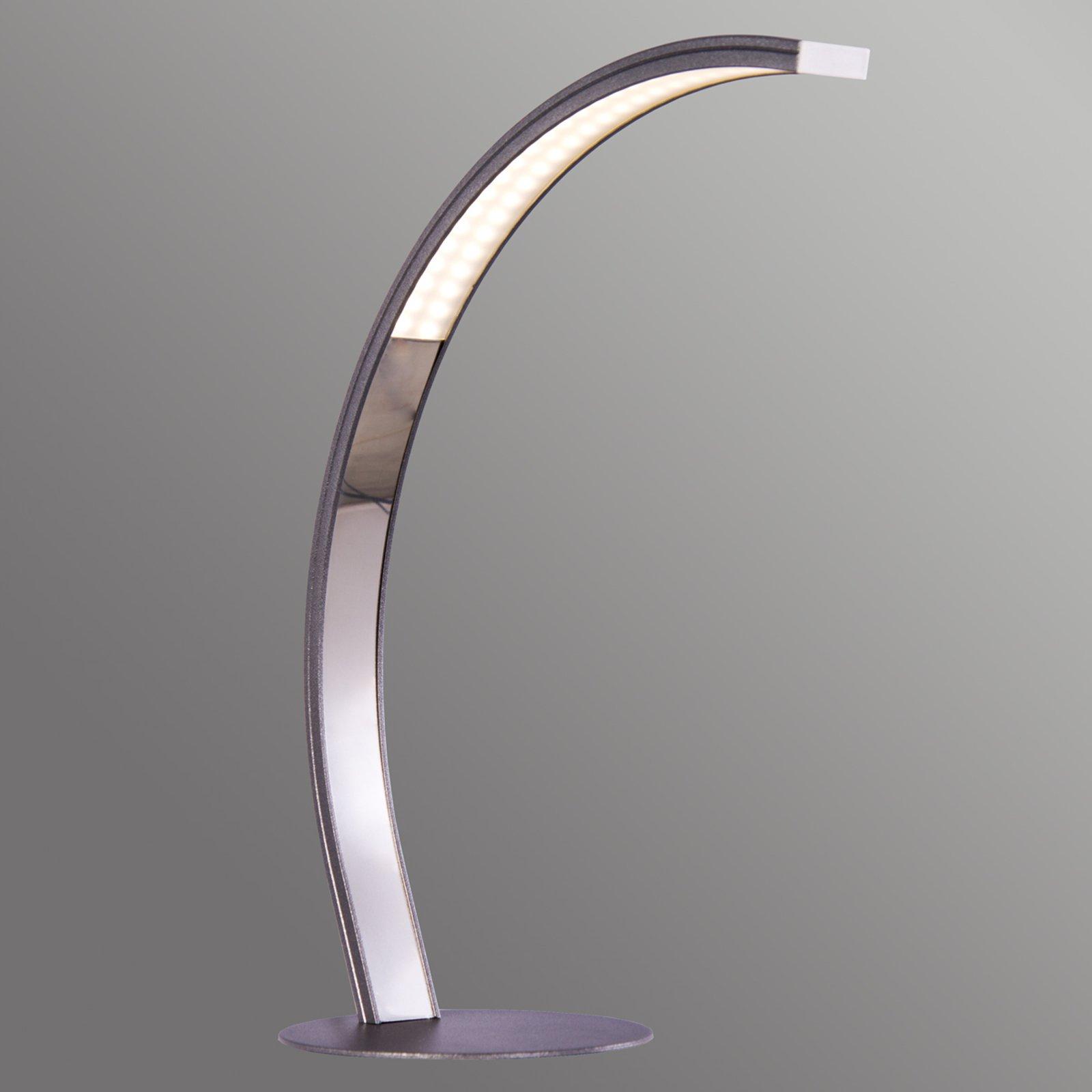 Bøyd LED bordlampe Largo