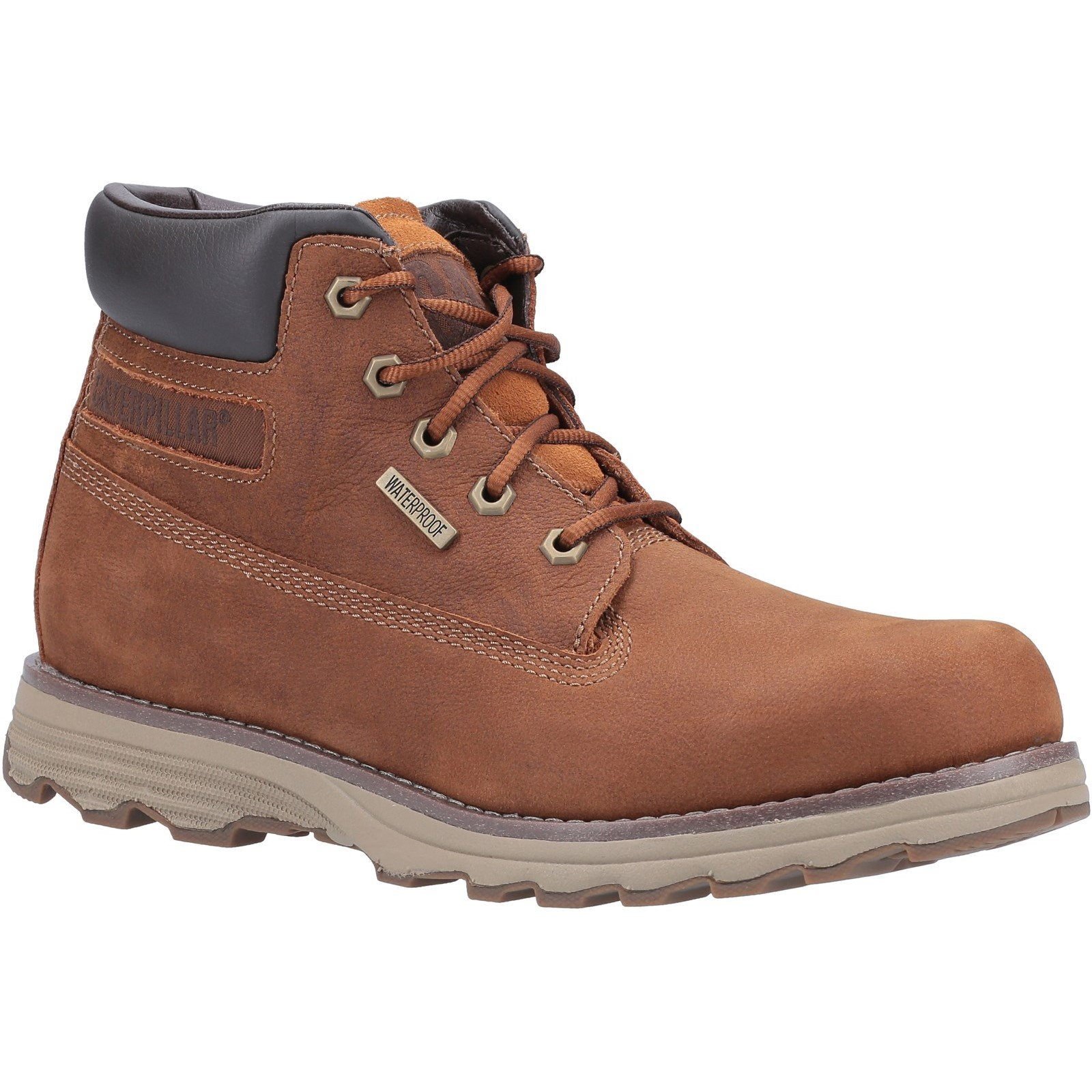 CAT Lifestyle Men's Founder WP TX Lace Up Boot 31487-53851 - Danish Brown 10
