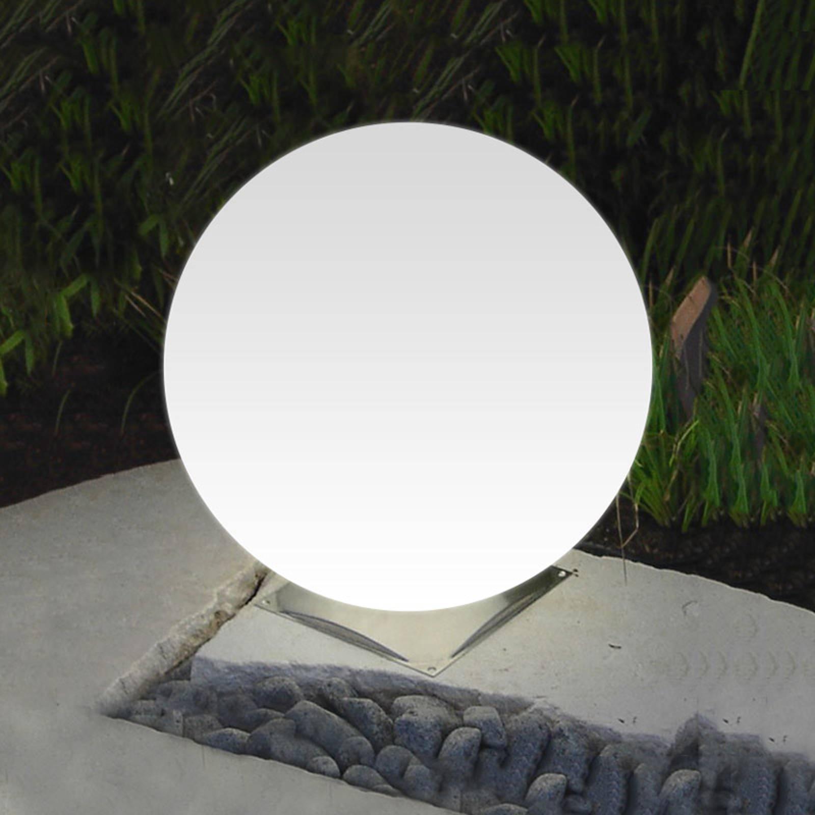 Snowball-pallovalaisin valkoinen teräsjalka 50