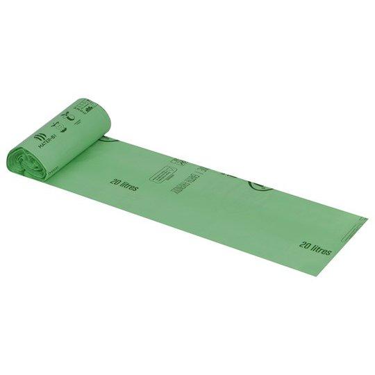 BioBag Komposterbar Avfallspåse utan handtag - 20 L, 15-pack