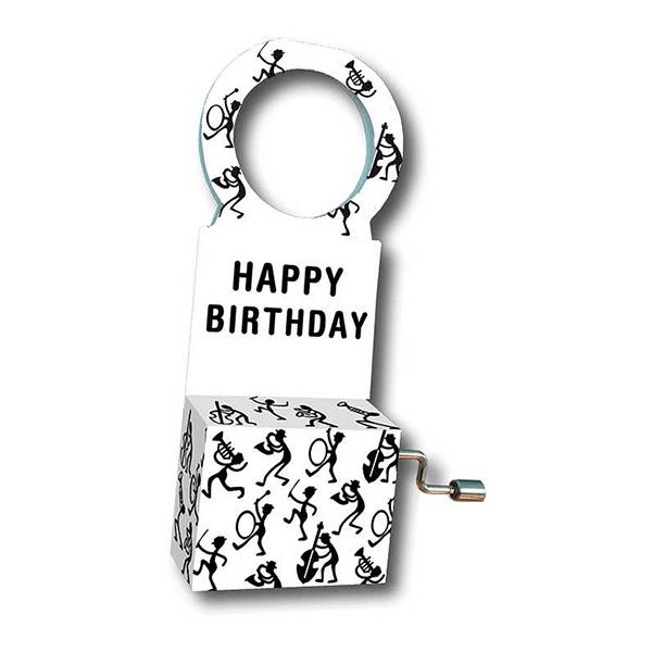 Speldosa för Flaska - Musiker/Happy Birthday