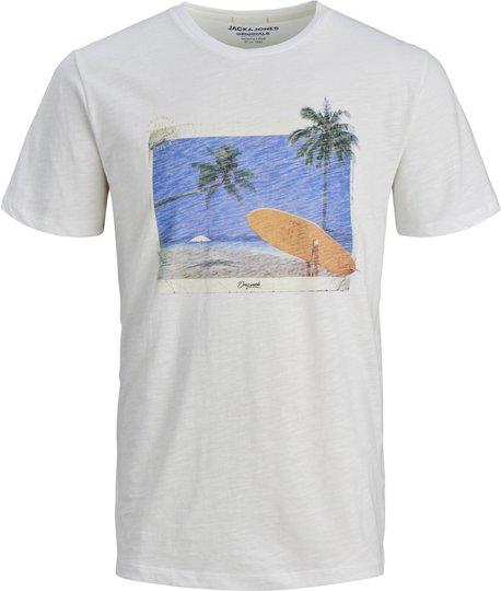 Jack & Jones Traveller Crewneck T-Shirt, Cloud Dancer 152