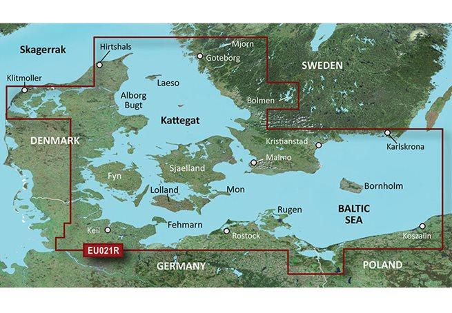 Garmin Danmark Öst-Sweden Sydöst Garmin VEU021R - BlueChart g3 Vision mSD/SD