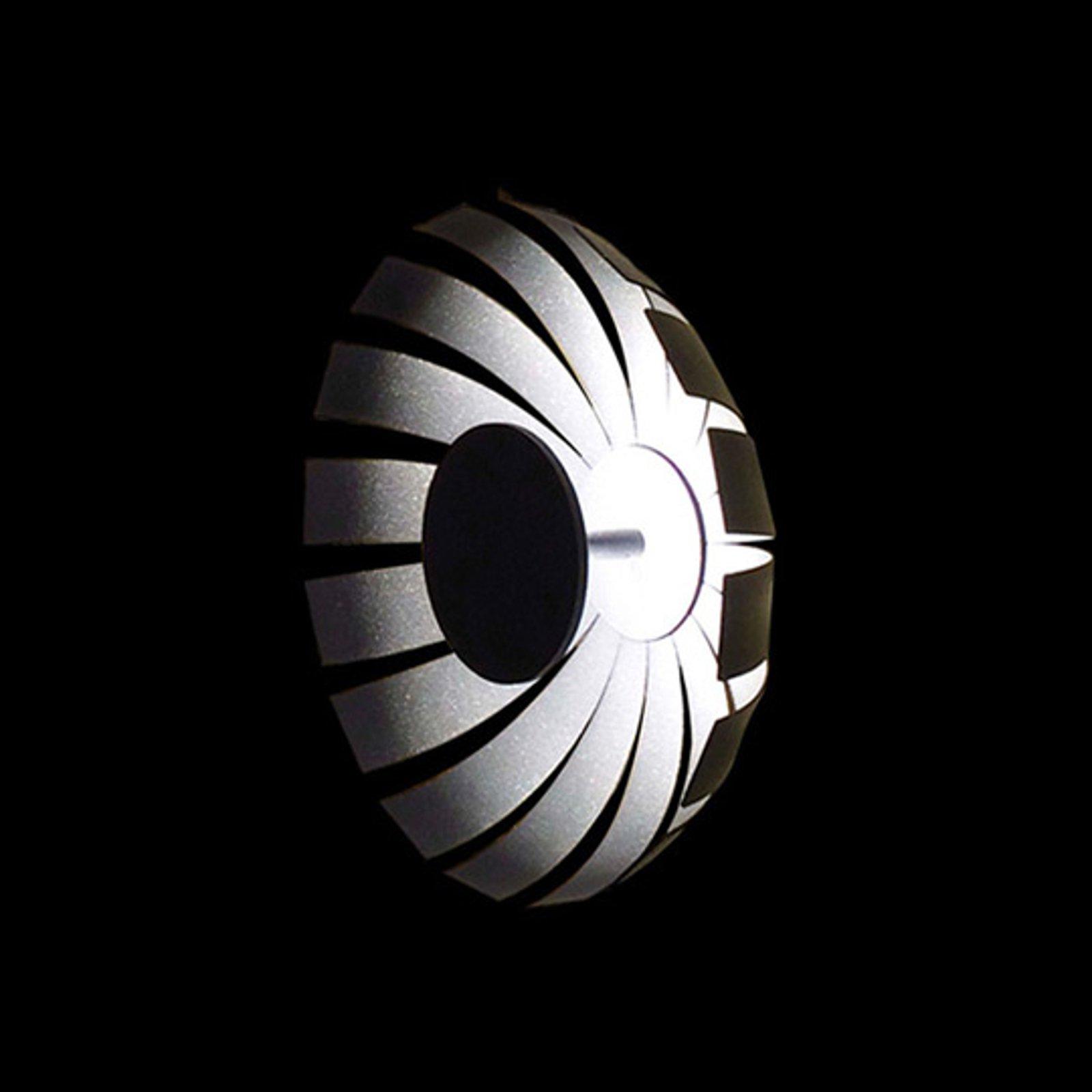 Loto LED-designer-taklampe, antrasitt, 20 cm