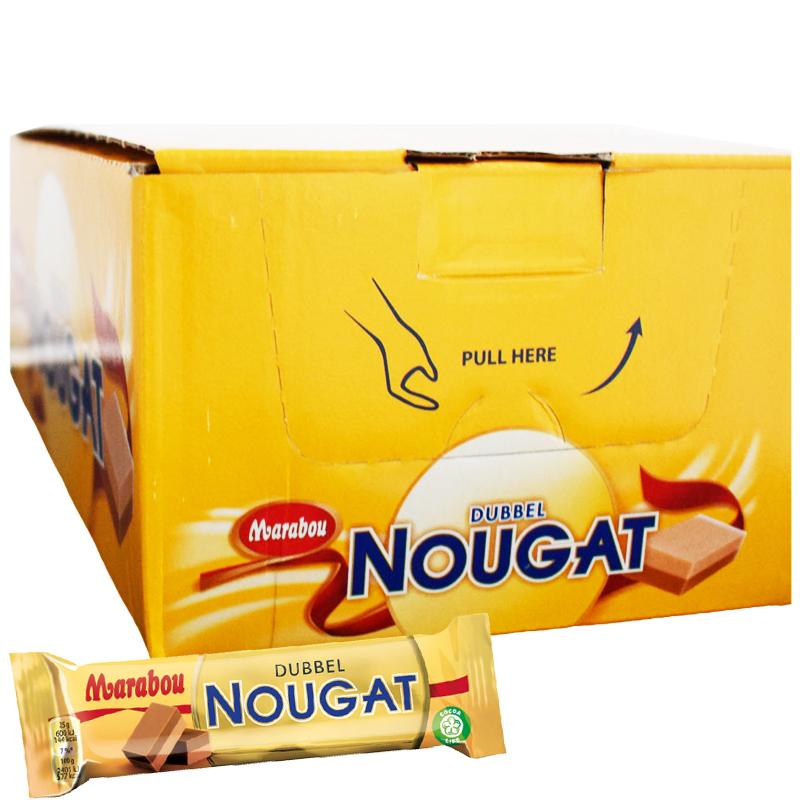 """Laatikollinen """"Dubbel Nougat"""" Suklaapatukoita 42 x 50g - 46% alennus"""