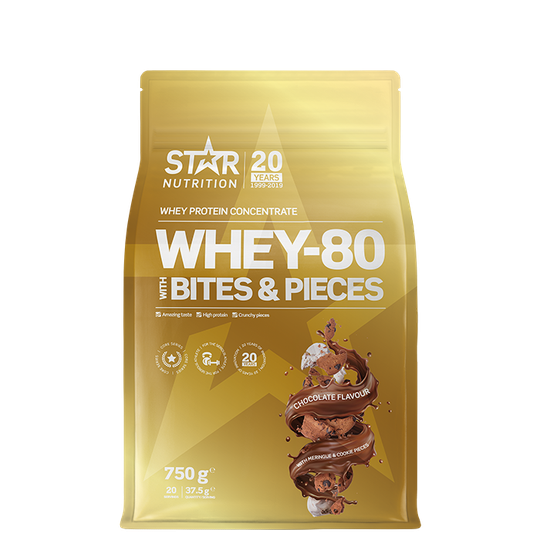 Whey-80 with bites and pieces, 750 g