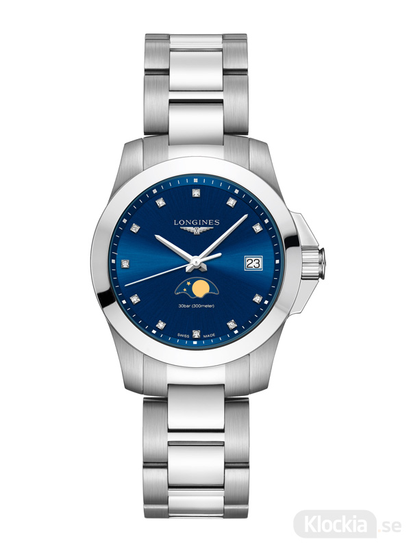 LONGINES Conquest Moon Phase 34mm L3.381.4.97.6