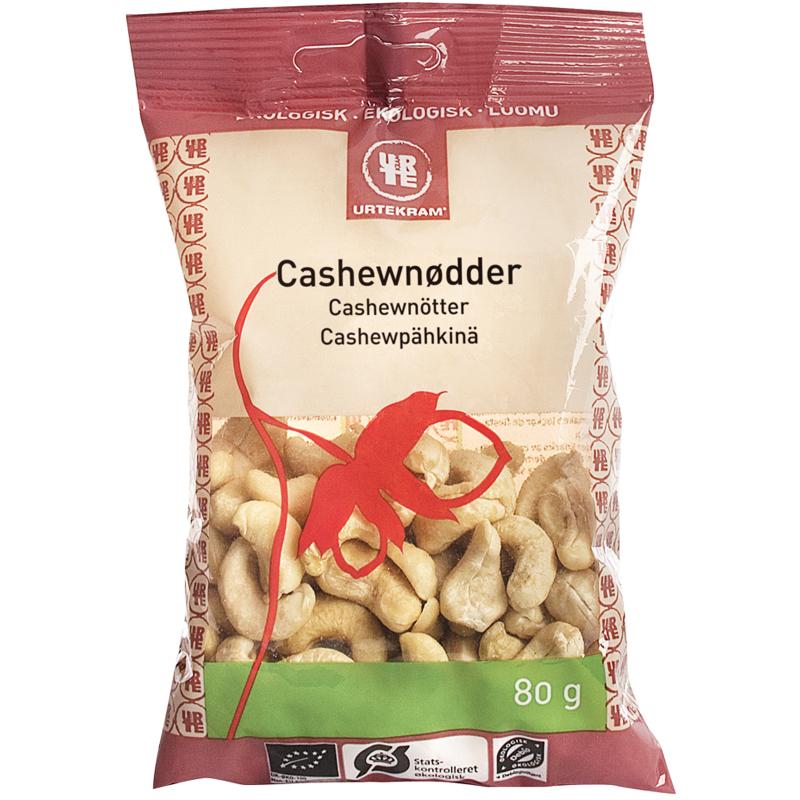Luomu Cashewpähkinöitä 80g - 33% alennus