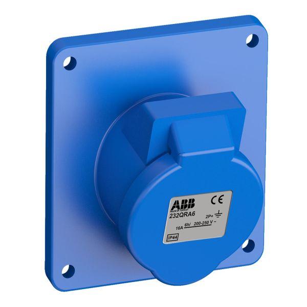 ABB 2CMA102349R1000 Paneelin ulostulo pikaliitettävä, tärinänkestävä Kulma, 3-nastainen, 32 A