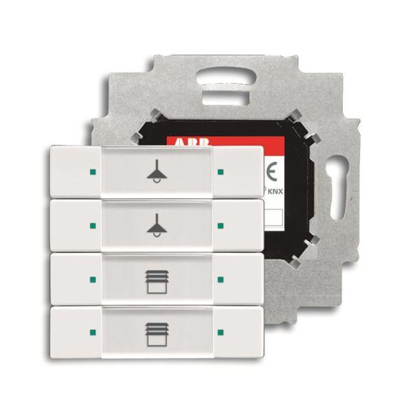 ABB Impressivo 6117-0-0200 Painike 4-napainen painike, väyläliitäntäyksiköllä, KNX Valkoinen (kiiltävä)