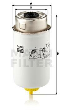 Polttoainesuodatin MANN-FILTER WK 8157
