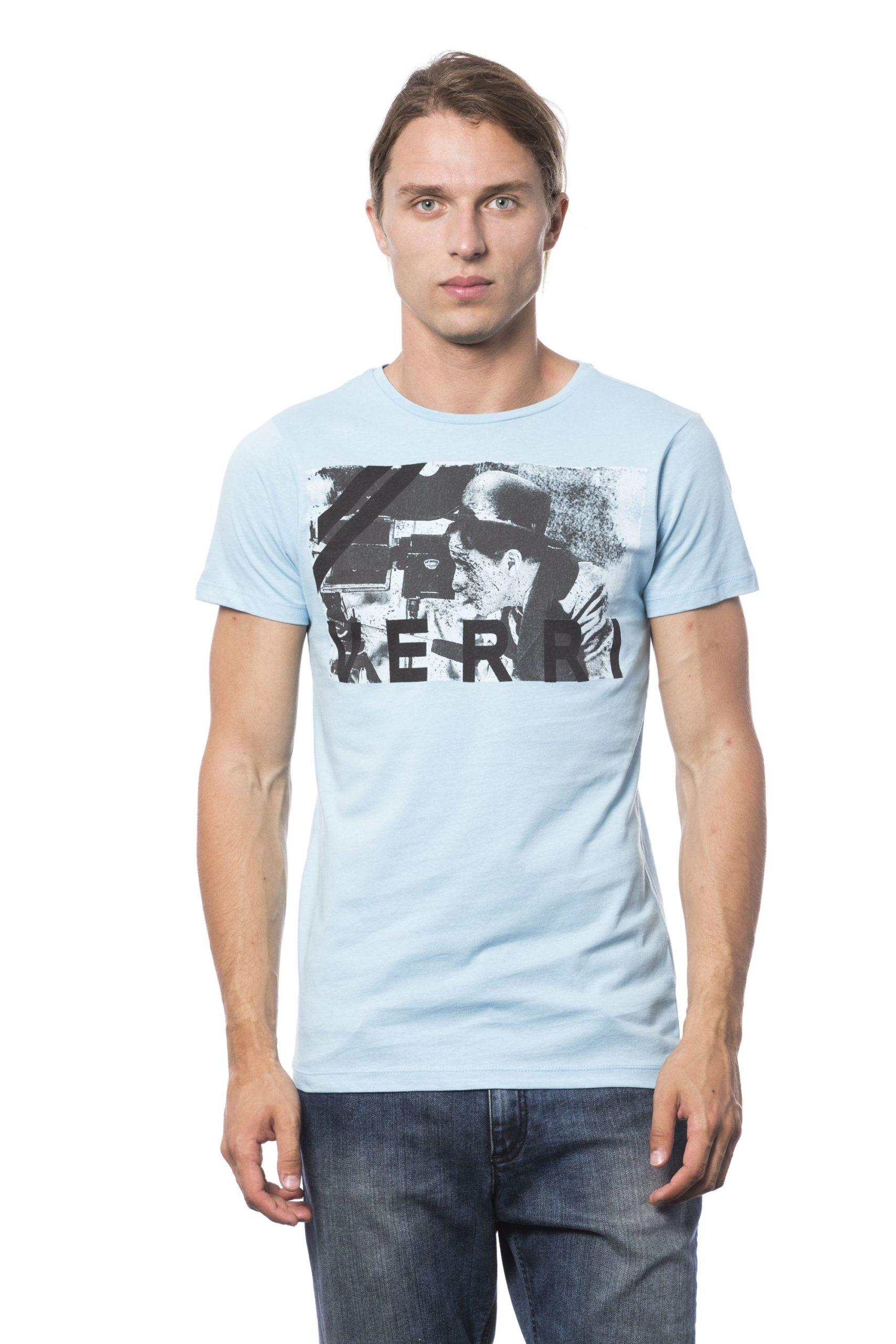 Verri Men's Azzurro Sky T-Shirt Blue VE686007 - S