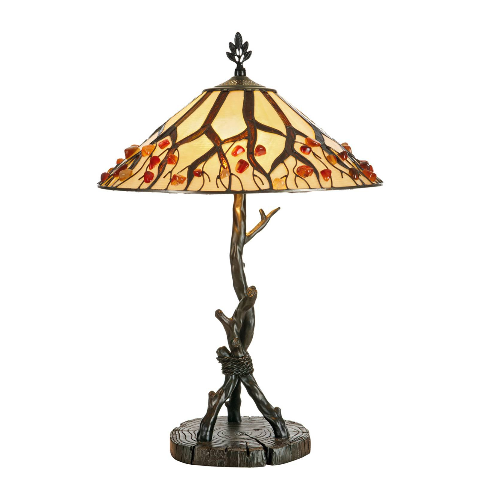 Bordlampe Jordis i Tiffany-stil
