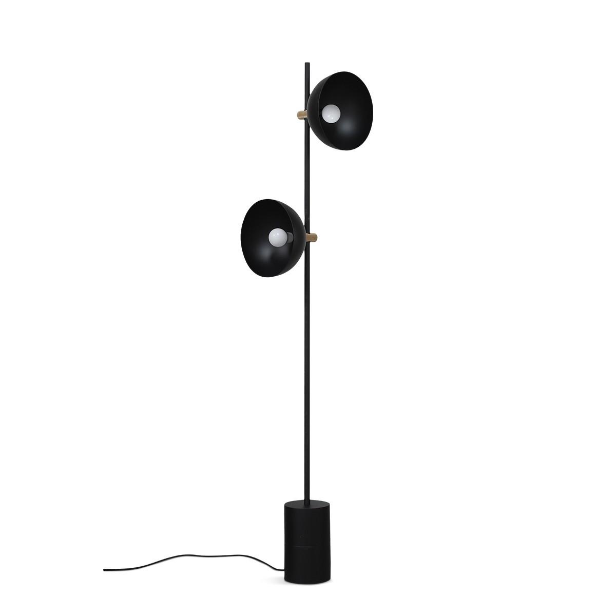 Handvark I Studio Floor Lamp Black with Brass