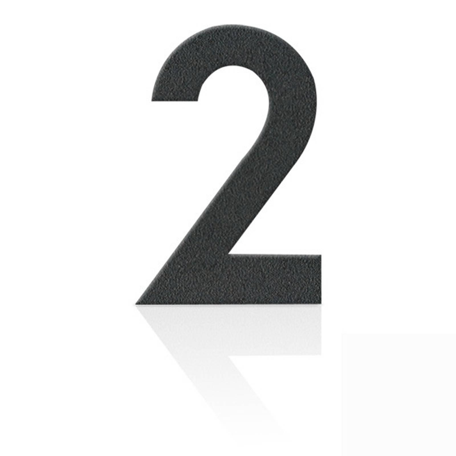 Ruostumaton teräs talonumero 2, grafiitinharmaa