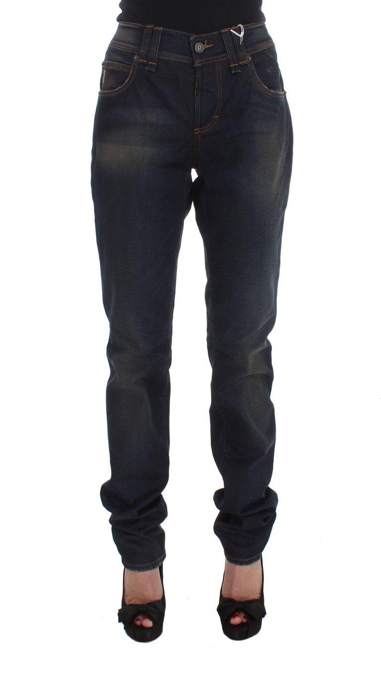 John Galliano Women's Cotton Blend Boyfriend Fit Jeans Blue SIG30207 - W26