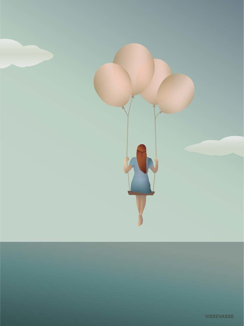 ViSSEVASSE Juliste Balloon Dream 50x70