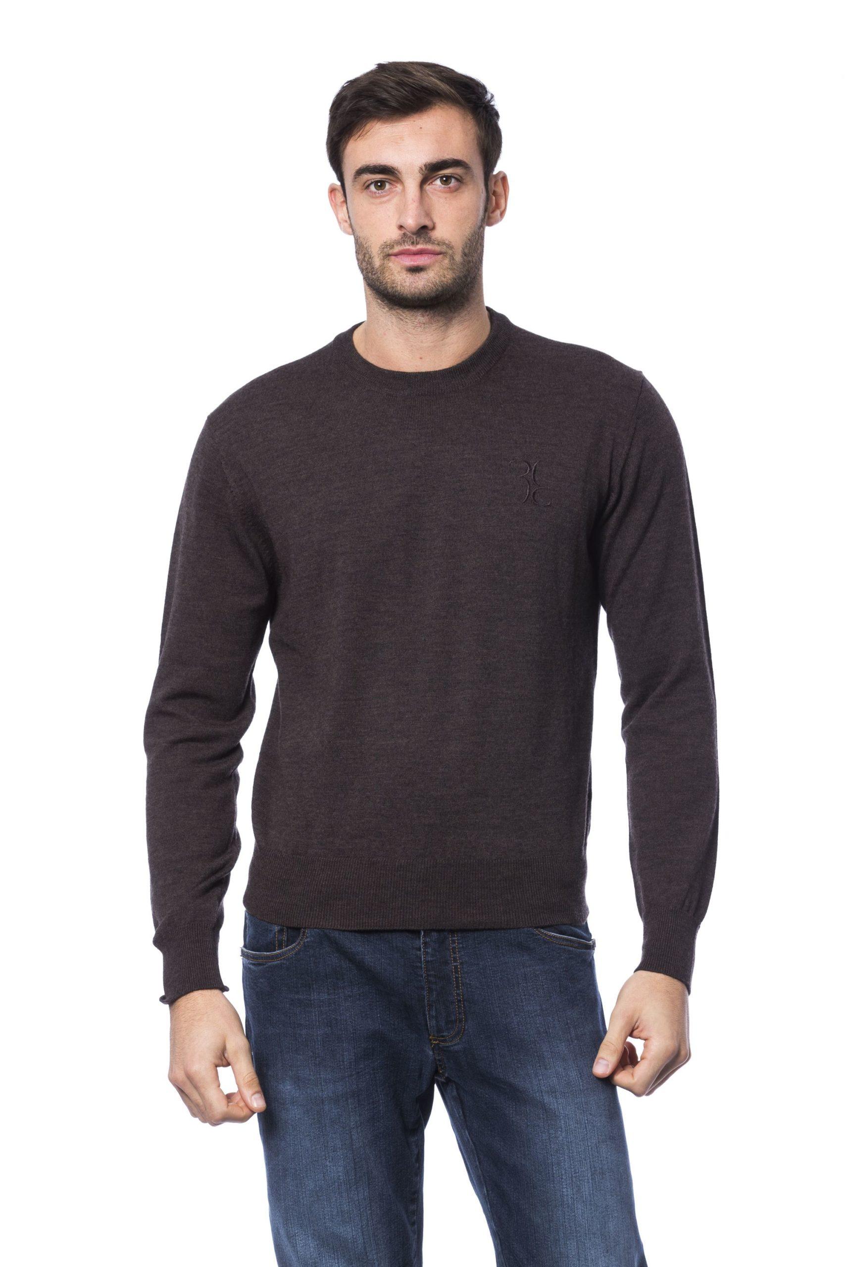Billionaire Italian Couture Men's Marr Sweater Brown BI1281220 - S