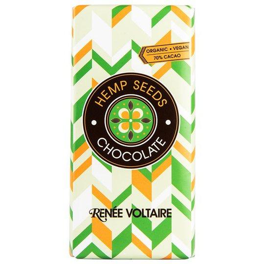 Renee Voltaire Chokladkaka med Hampafrön, 100 g