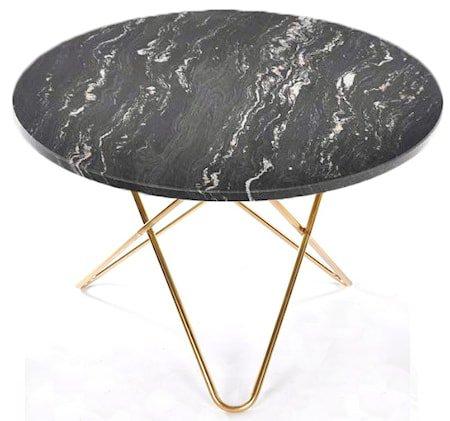 Big O table spisebord - svart/messing understell