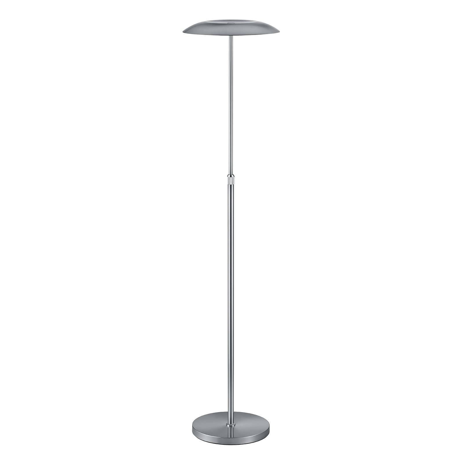 B-Leuchten Curling LED-gulvlampe nikkel matt