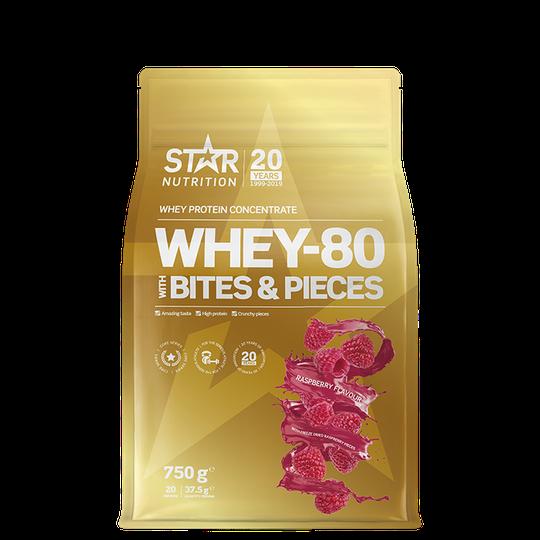 Whey-80, 750 g, Raspberry with raspberry pieces
