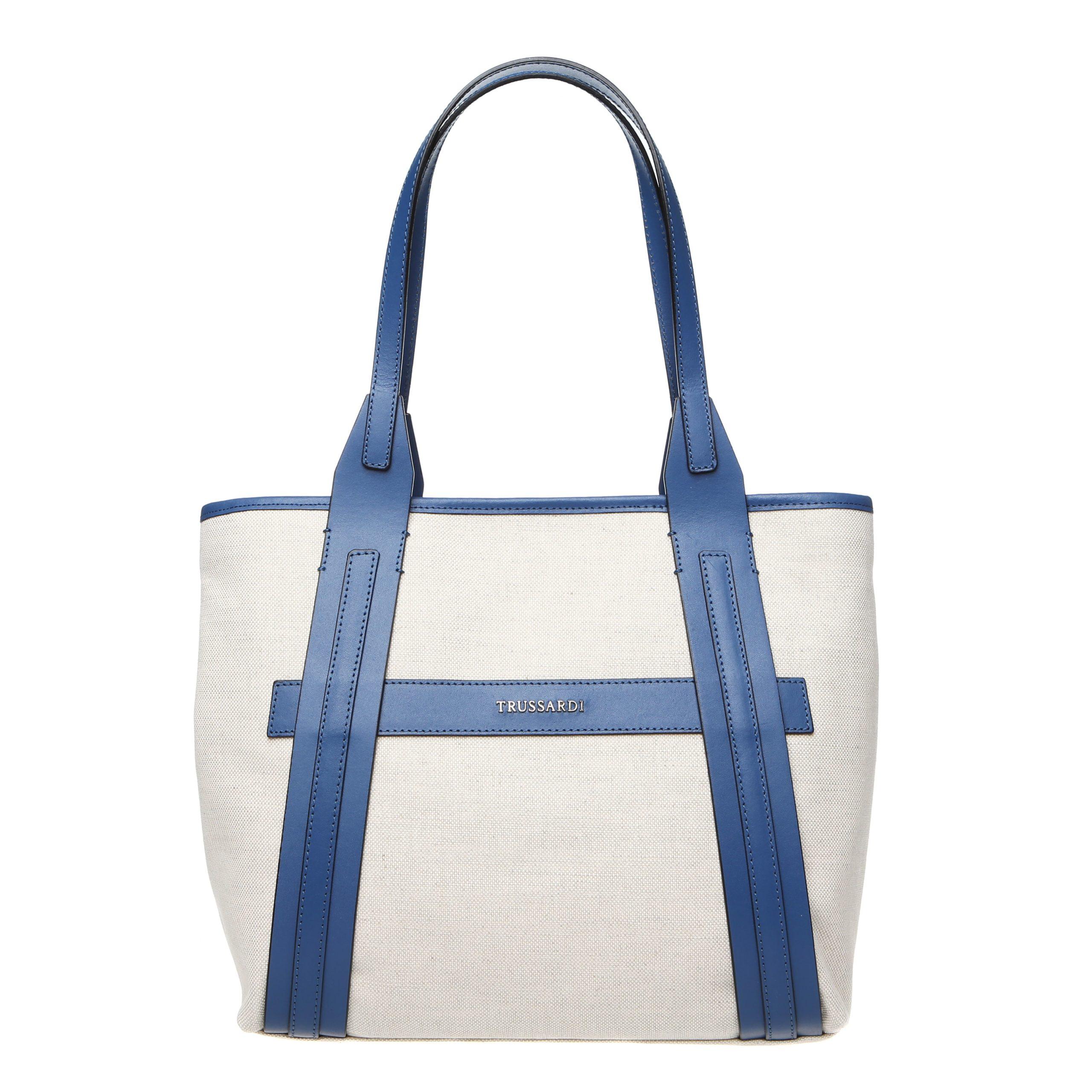 Trussardi Women's Shoulder Bag White 76B120M_128Natural-Blue