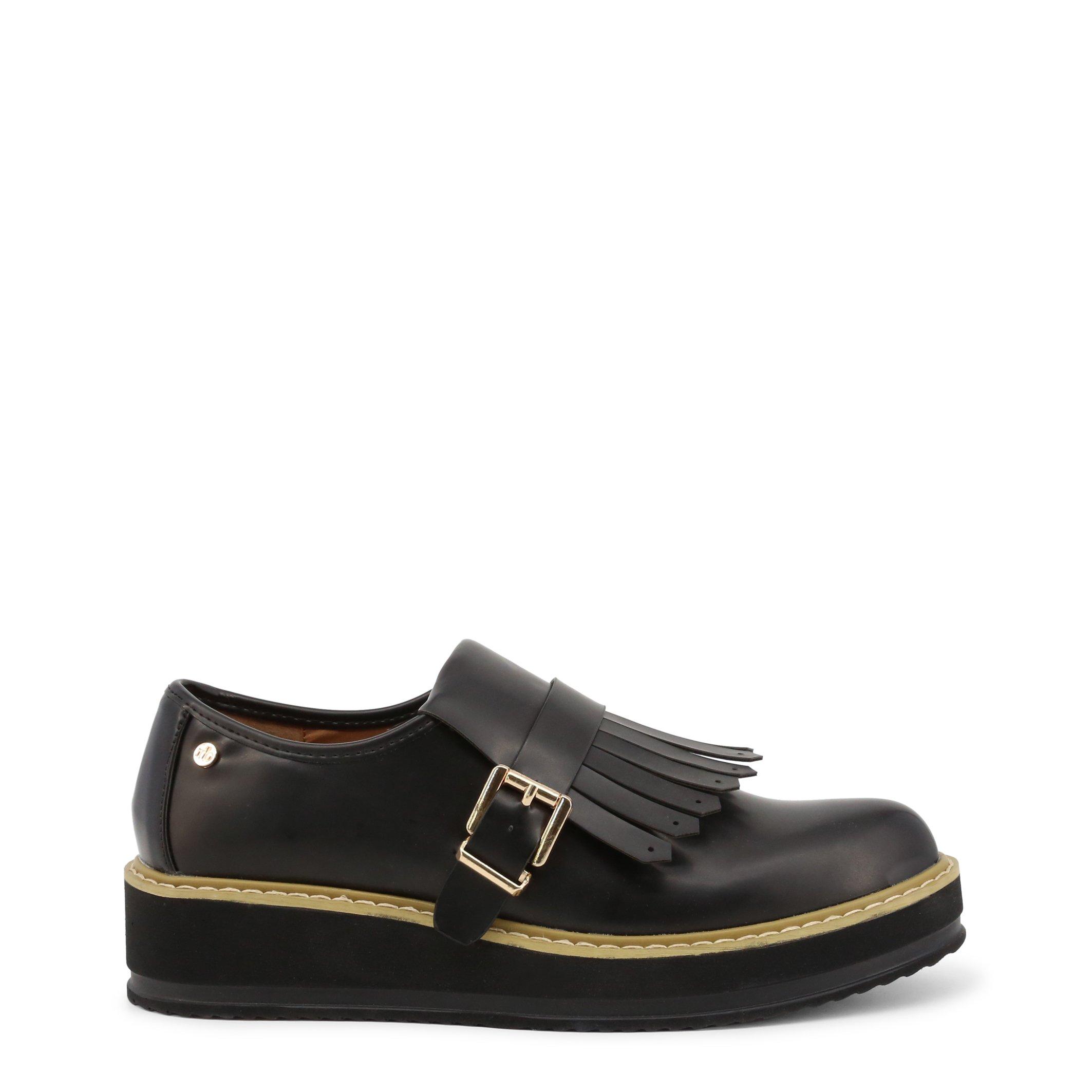 Roccobarocco Women's Flat Shoe Red RBSC1JM01 - black EU 35