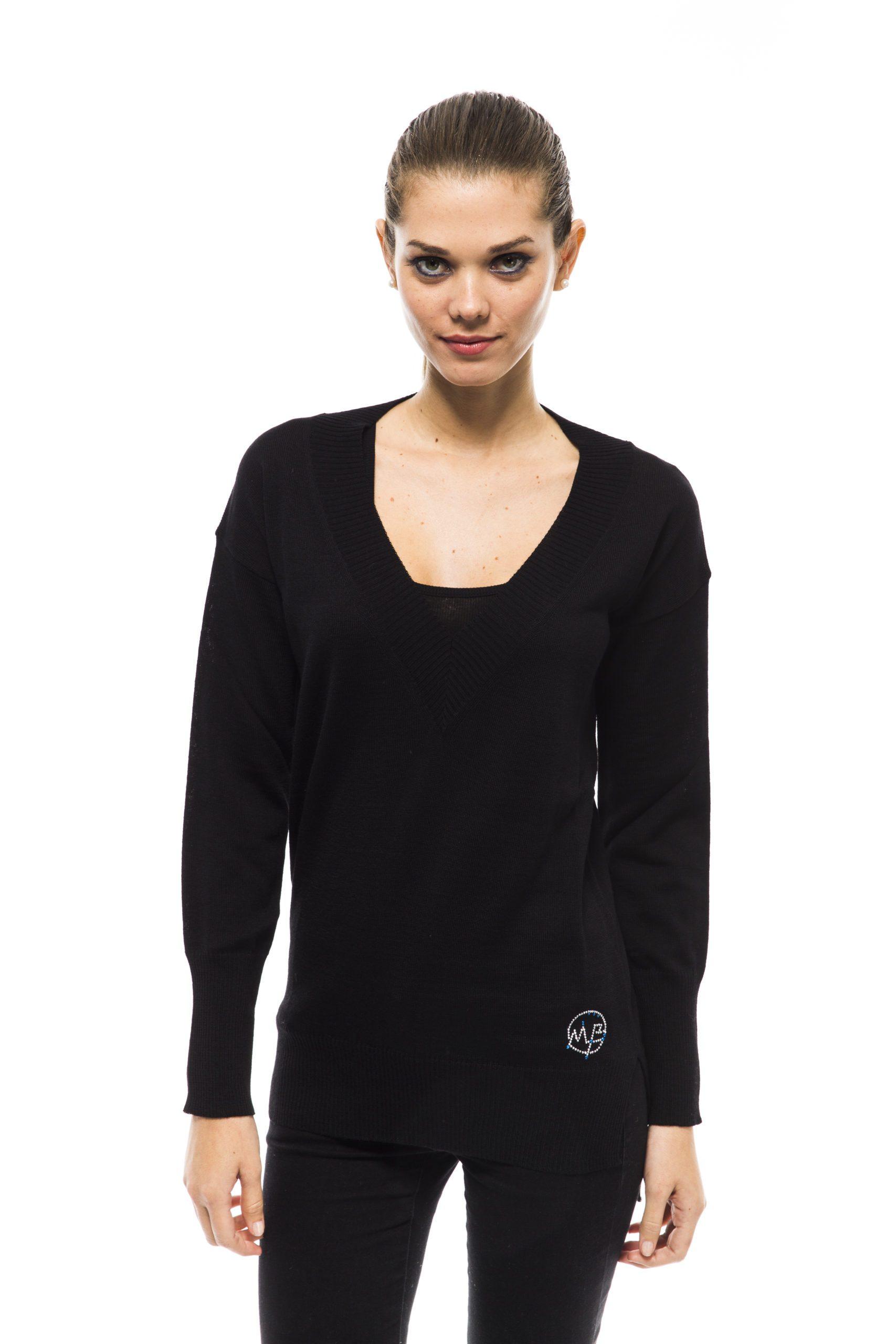 Montana Blu Women's Nero Sweater Black MO1191354 - IT40 | XS