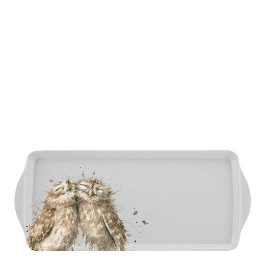 Wrendale Design - Smörgåsbricka Uggla 38,5x16,5 cm