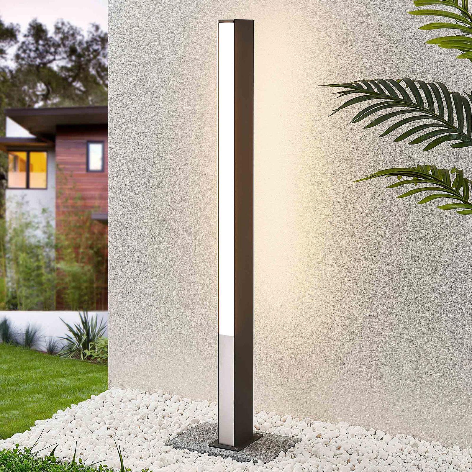 Lucande Aegisa -LED-pylväsvalaisin, 110 cm