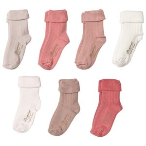 Bonpoint 7-Pack Days of the Week Strumpor Rosa One Size (3-6 months)