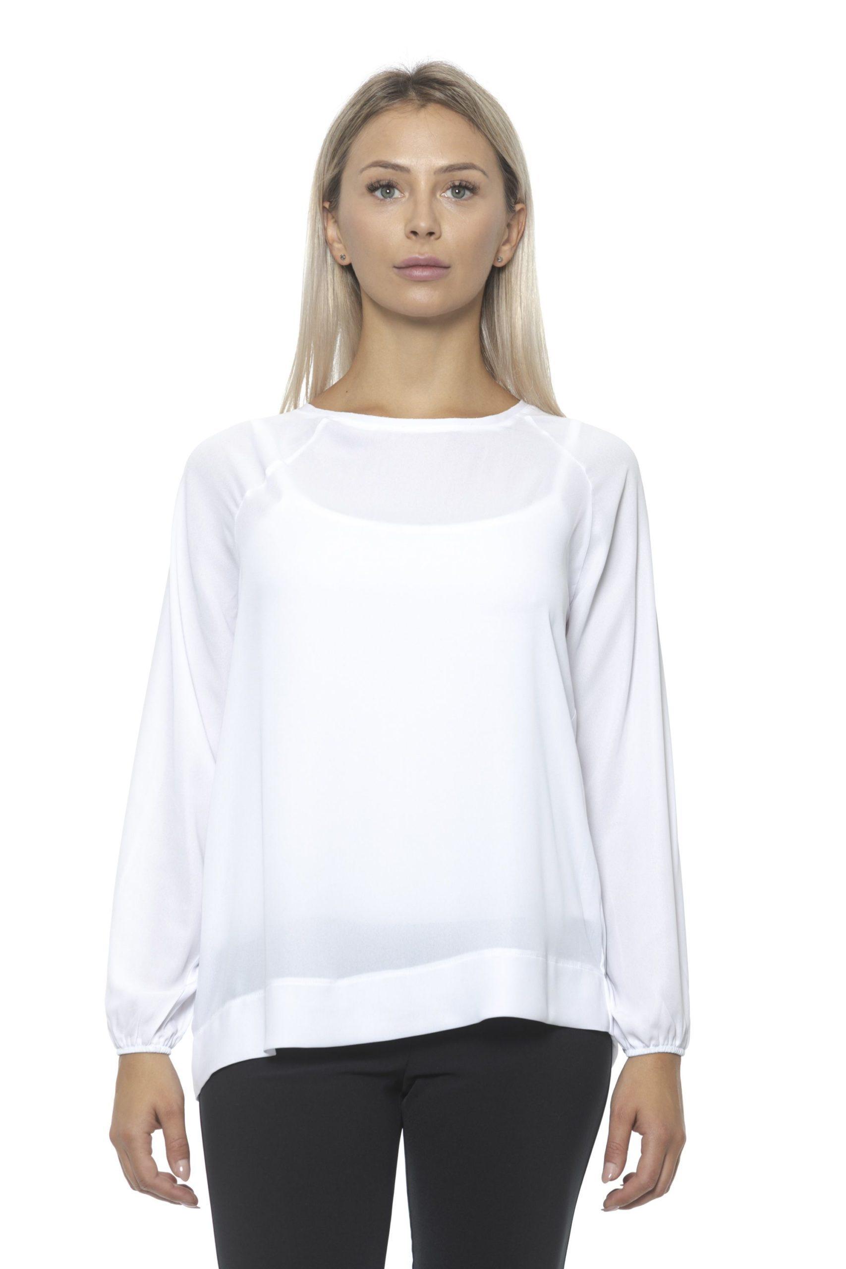 Alpha Studio Women's Ottico Sweater White AL1314799 - IT42 | S