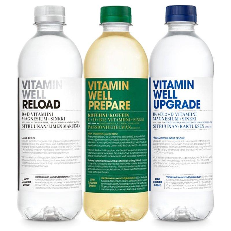 Vitamiinijuomat 3 x 500ml - 58% alennus