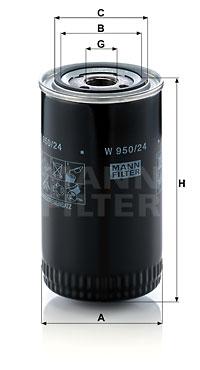 Öljynsuodatin MANN-FILTER W 950/24