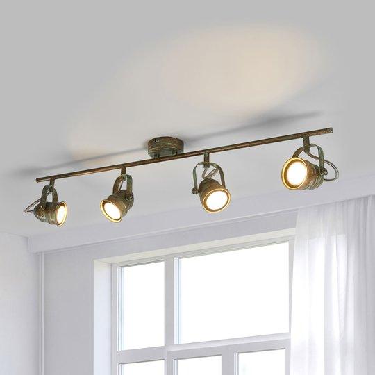 LED-takspot Leonor med antikt uttrykk