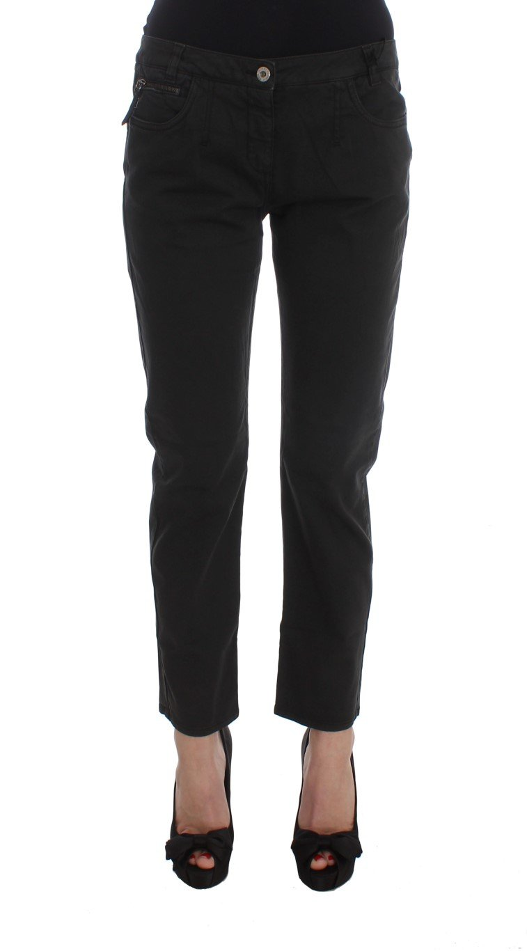 Costume National Women's Cotton Capri Cropped Denim Jeans Black SIG32587 - W28