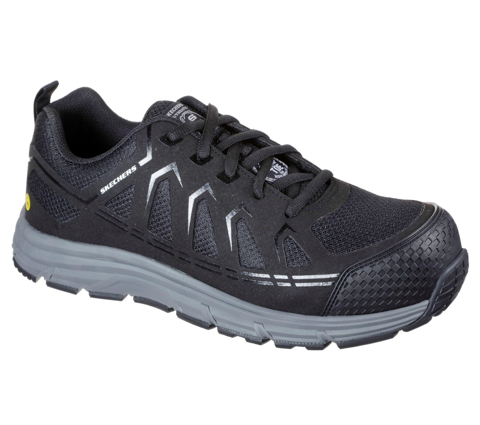 Skechers Unisex Malad Safety Trainer Various Colours 32623 - Black 10